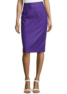 Michael Kors Techno Felt Wool Pencil Skirt, Grape