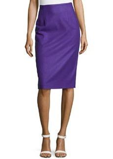 Michael Kors Techno Felt Wool Pencil Skirt, Grape