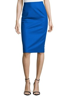 Michael Kors Techno Felt Wool Pencil Skirt, Royal