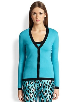 Michael Kors Tipped Cashmere Cardigan