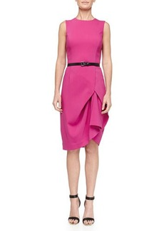 Michael Kors Tissue Origami Belted Dress, Peony