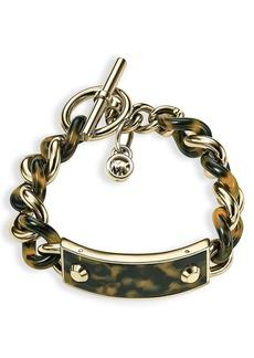 Michael Kors Tortoise Print Curb Chain Toggle Bracelet