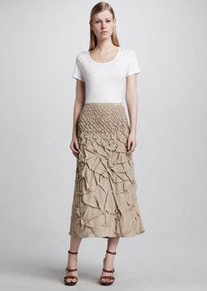 Michael Kors Trapunto-Stitch Long Skirt