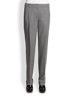 Michael Kors Tropical Wool Pleated Pants