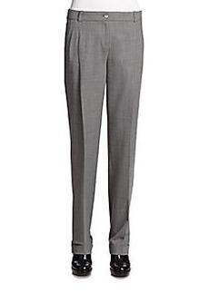Michael Kors Tropical Wool Pleated Pants
