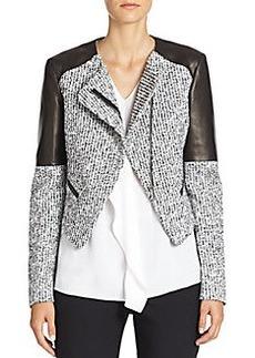 Michael Kors Tweed & Leather Jacket