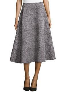 Michael Kors Tweed Bias Circle Midi Skirt