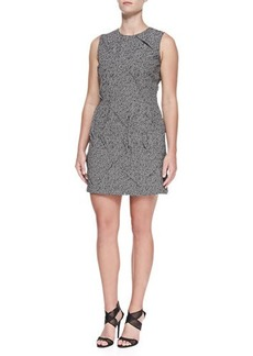 Michael Kors Tweed Jacquard Origami Sheath Dress