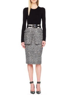 Michael Kors Tweed Peplum Skirt
