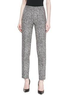 Michael Kors Tweed Slim Straight-Leg Pants