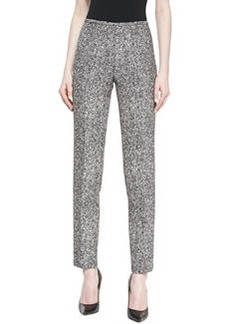 Michael Kors Tweed Slim Straight-Leg Pants
