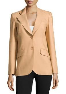 Michael Kors Two-Button Wool Jacket, Suntan