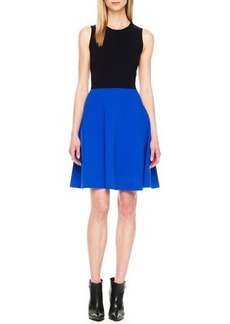 Michael Kors Two-Tone A-Line Dress