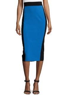Michael Kors Two-Tone Knee-Length Pencil Skirt, Royal