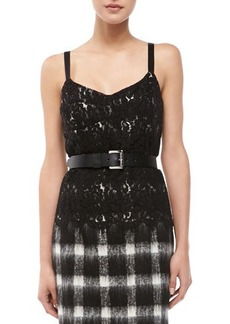 Michael Kors Two-Tone Lace Sleeveless Bustier  Two-Tone Lace Sleeveless Bustier