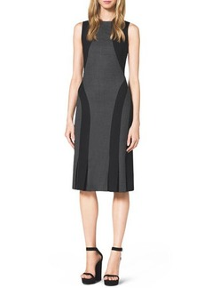 Michael Kors Two-Tone Pleated-Hem Dress