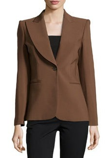 Michael Kors Wide-Lapel One-Button Jacket, Nutmeg