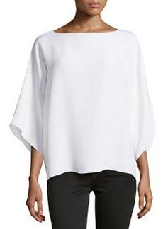 Michael Kors Wide-Neck Kimono Tunic, White