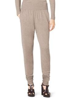 Michael Kors Wide-Waist Cashmere Sweatpants