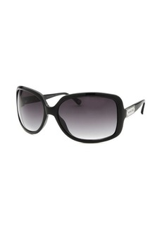 Michael Kors Women's Avilla Rectangle Black Sunglasses