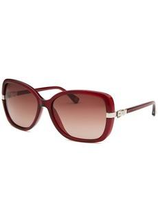 Michael Kors Women's Beverly Butterfly Red Sunglasses