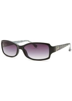 Michael Kors Women's Boca Raton Rectangle Black Sunglasses