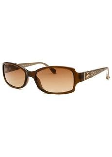 Michael Kors Women's Boca Raton Rectangle Brown Sunglasses