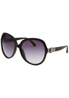 Michael Kors Women's Brandy Oversized Black Sunglasses