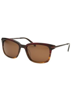 Michael Kors Women's Carter Rectangle Burgundy and Havana Sunglasses