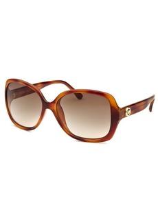 Michael Kors Women's Cassidy Round Amber Tortoise Sunglasses