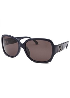 Michael Kors Women's Gia Butterfly Navy Blue Sunglasses
