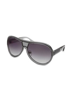 Michael Kors Women's Maya Aviator Transparent & Silver Sunglasses
