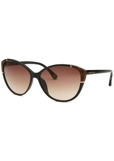 Michael Kors Women's Paige Cat Eye Black Sunglasses