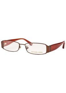 Michael Kors Women's Rectangle Bronze-Tone Optical Eyeglasses