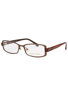 Michael Kors Women's Rectangle Brown Optical Eyeglasses
