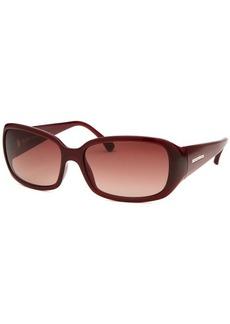 Michael Kors Women's Roxanne Rectangle Burgundy Sunglasses