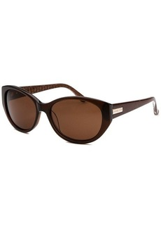 Michael Kors Women's Ruby Oval Brown Sunglasses