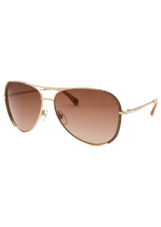 Michael Kors Women's Sadie Aviator Rose-Tone Sunglasses