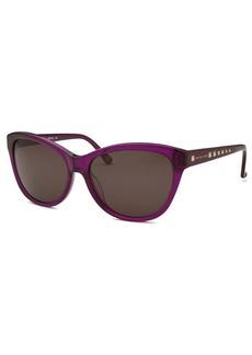 Michael Kors Women's Victoria Cat Eye Purple Sunglasses