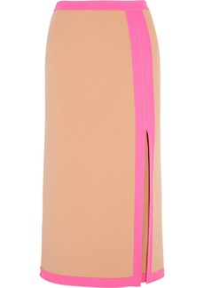 Michael Kors Wool-blend crepe skirt