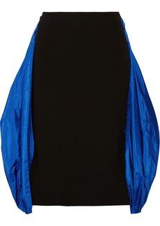 Michael Kors Wool-crepe and taffeta skirt