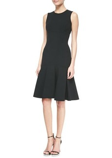 Michael Kors Wool Crepe Flare Sheath Dress