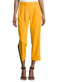 Michael Kors Wool Serge Tuxedo Track Pants, Taxicab