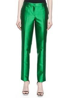 Michael Kors Wool Shantung Slim Pants, Palm