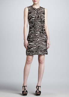 Michael Kors Zebra-Print Grommet Dress