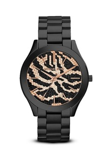 Michael Kors Zebra Print Slim Runway Watch, 42mm
