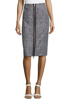 Michael Kors Zip-Slit Tweed Skirt