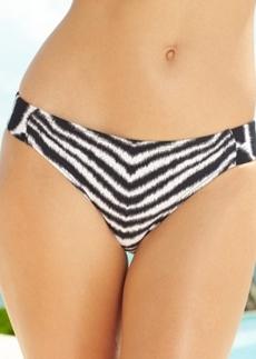 Michael Michael Kors Animal-Print Side-Tab Bikini Bottom Women's Swimsuit