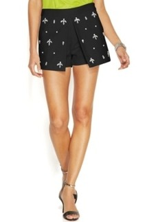 Michael Michael Kors Embellished Front-Pleat Skort
