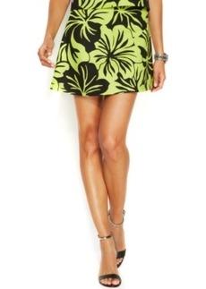 Michael Michael Kors Floral-Print Flared Mini Skirt